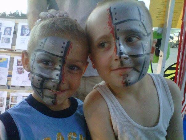 Cyborg brothers super quick face paint mehron paradise silver metallic