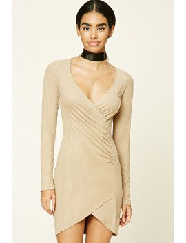 faux-suede-bodycon-tulip-dress by f21-contemporary #dress #fashion #trends #onlineshopping #shoptagr