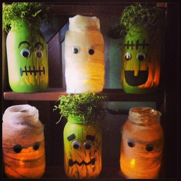 frankenstein mason jar craft frankenstein amp mummy jars 4503