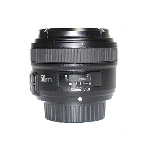 YONGNUO YN EF 50mm f/1.8 AF Lens YN50 Aperture Auto Focus for Nikon Cameras as AF-S 50mm 1.8G With EACHSHOT Cleaning Cloth - ZonHunt