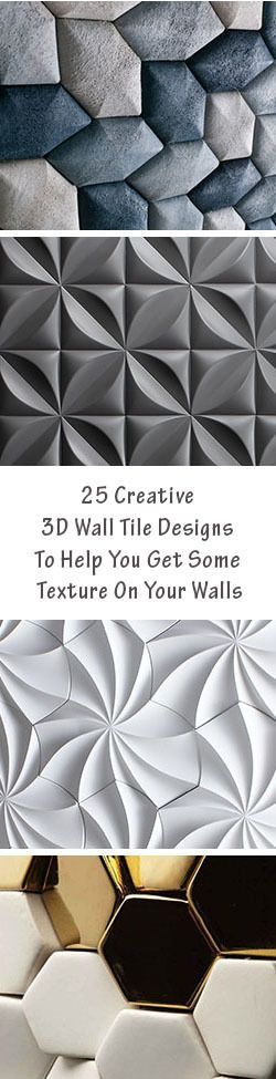 25 Creative 3D Wall Tile Designs To Help You Get Some Texture On Your Walls