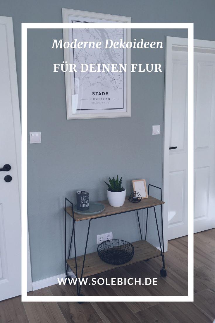 Die schönsten Ideen für deinen Flur! Foto: chrissira #solebich #wandfarbe #flur