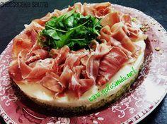 Golosando...serenamente!: Cheesecake salata crudo, rucola e stracchino