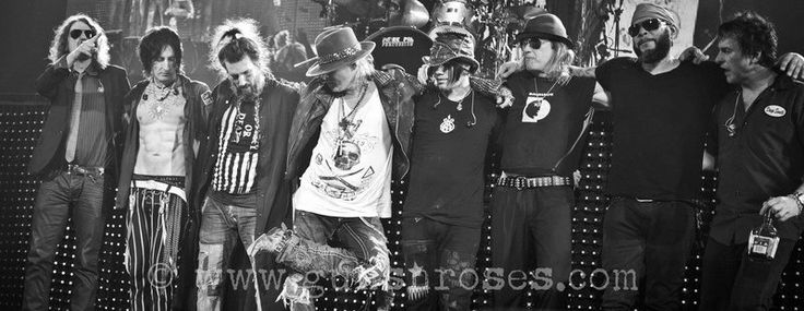 Guns N' Roses - Dizzy, Reed, Richard Fortus, Bumblefoot, Axl Rose, Dj Ashba, Chris Pitman, Frank Ferrer & Tommy Stinson