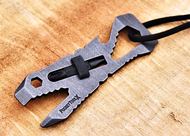 Piranha Pocket Tool  This Piranha Pocket Tool is virtually indestructible and features 10 tools while weighing under 2oz. Keep this handy if you plan on getting caught in a tight spot anytime soon.
