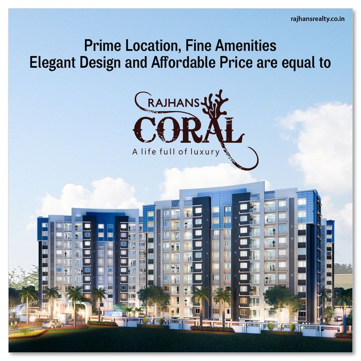 Prime location, fine amenities, elegant design and affordable price are equal to #RajhansCoral.