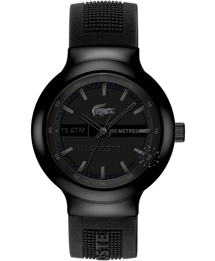 LACOSTE Black Dial Black Rubber Strap Η τιμή μας: 109€ http://www.oroloi.gr/product_info.php?products_id=34733