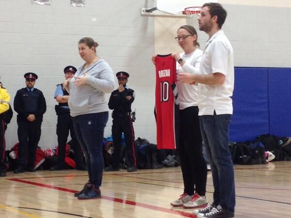 Thanks @MLSE Foundation for donating this #Raptors jersey for a lucky athlete! #fourcorners