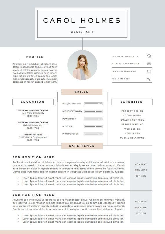 5 Page Resume Template And Cover Letter References For Word