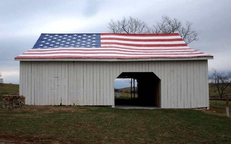Flag Barn in Paris, Kentucky....My hometown