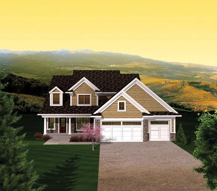 Elevation Of House Plan 73155 House Plans Pinterest House Curb Appeal And Small Spaces