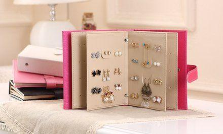 image pour livre de rangement pour boucles d 39 oreille. Black Bedroom Furniture Sets. Home Design Ideas