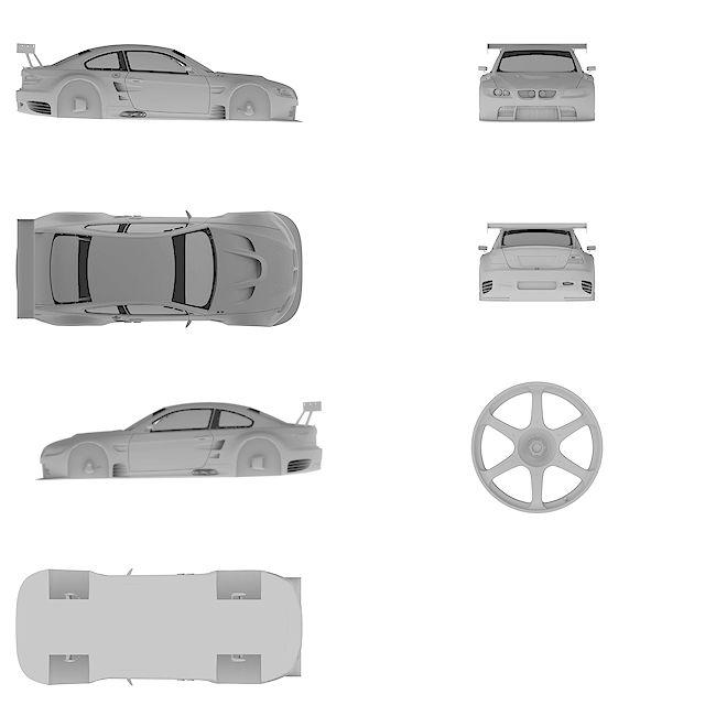 4k Ultra HD high resolution blueprint of BMW | M3 GT2
