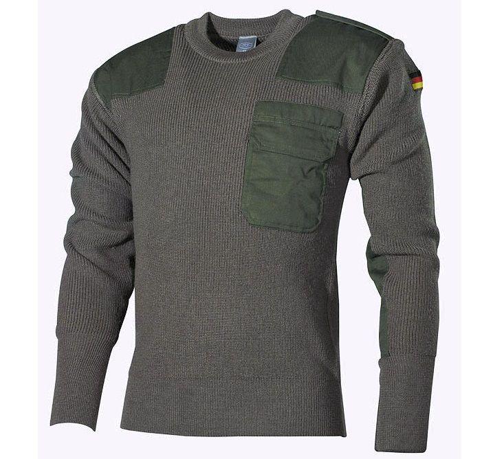 warmer BW Pullover, oliv für kalte Herbstage / mehr Infos auf: www.Guntia-Militaria-Shop.de