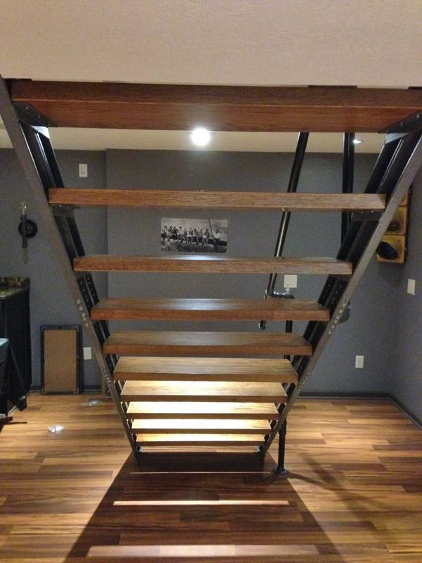 basement stair stringers by fast stairs com basement stairs rh pinterest ca Basement Stairs No Stringer Pulling Apart Stringers Stairs Basement