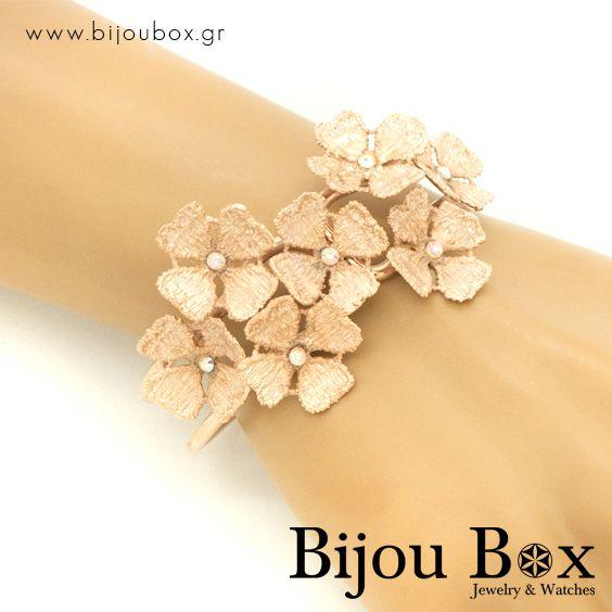 Bangle bracelet in ancient greek style made from rose gold plated bronze FLOWERS Βραχιόλι σε αρχαιοελληνικό στυλ από ροζ χρυσό μπρούτζο FLOWERS Check out now... www.bijoubox.gr #BijouBox #Bracelet #Βραχιόλι #Handmade #Χειροποίητο #Greece #Ελλάδα #Greek #Κοσμήματα #MadeinGreece #RedGold #jwlr #Jewelry #Fashion