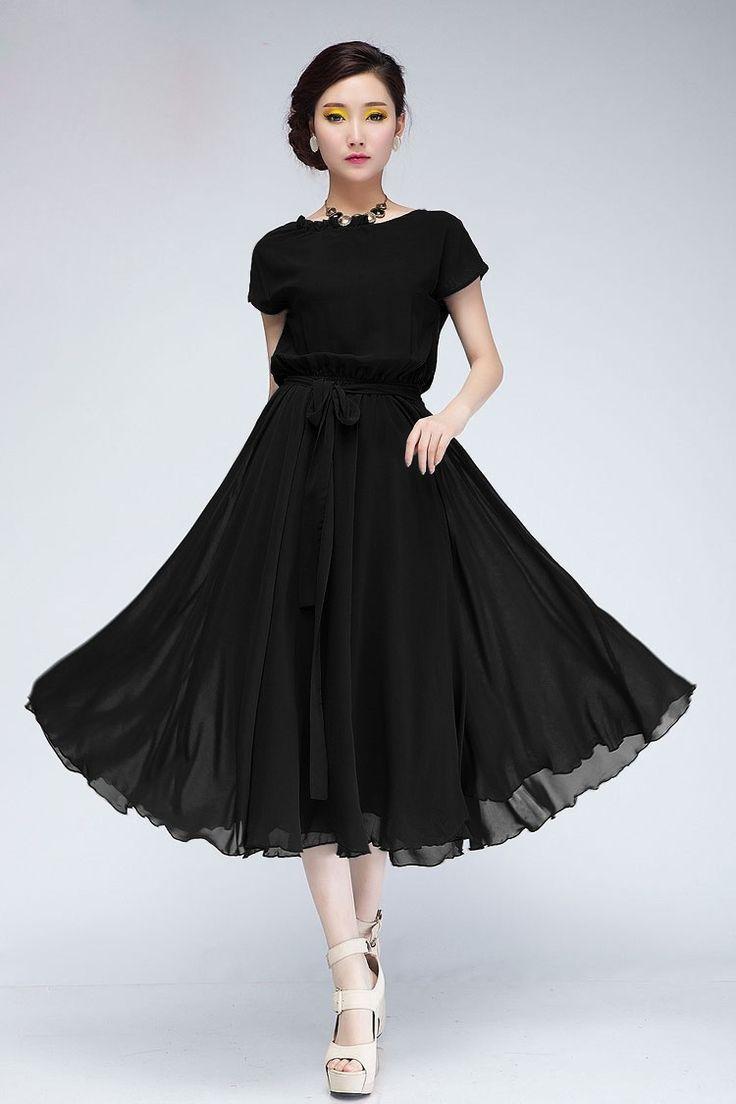 SZMXSS hanım Uzun Şifon Elbiseler Siyah Yeşil Renk Kısa Yarasa Kovanı Kuşaklı Elastik Ince Bel Büyük Salıncak Maxi Pilili elbise - http://www.geceelbisesi.com/products/szmxss-hanim-uzun-sifon-elbiseler-siyah-yesil-renk-kisa-yarasa-kovani-kusakli-elastik-ince-bel-buyuk-salincak-maxi-pilili-elbise/
