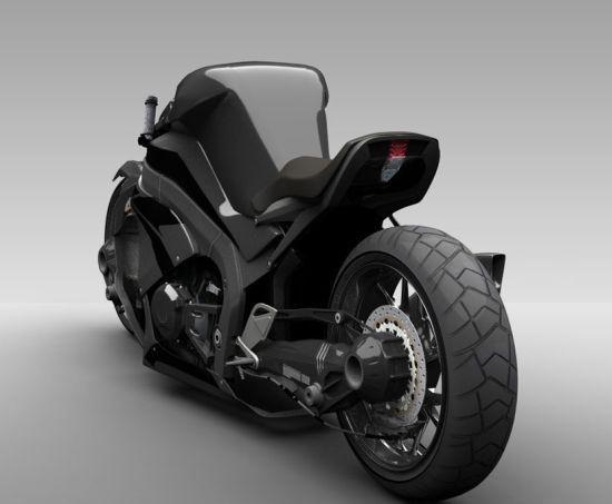Super Bike Ostoure Futuristic Concept