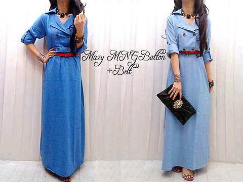Coat Cotton Dress IDR 135,000 material cotton denim, free belt wanna? SMS to 083892900957 or BBM 321E07EC ;)