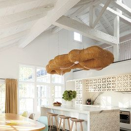 24 best modern organic kitchens images on pinterest kitchen white bespoke cabinetry and a campana brothers suspension light enliven the kitchen where the owners golden retriever relaxes on the floor the stools are by workwithnaturefo