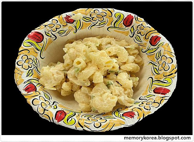 Macaroni Salad and Potato salad ( Jipbap Baekseonsaeng )           -            Memory Korea