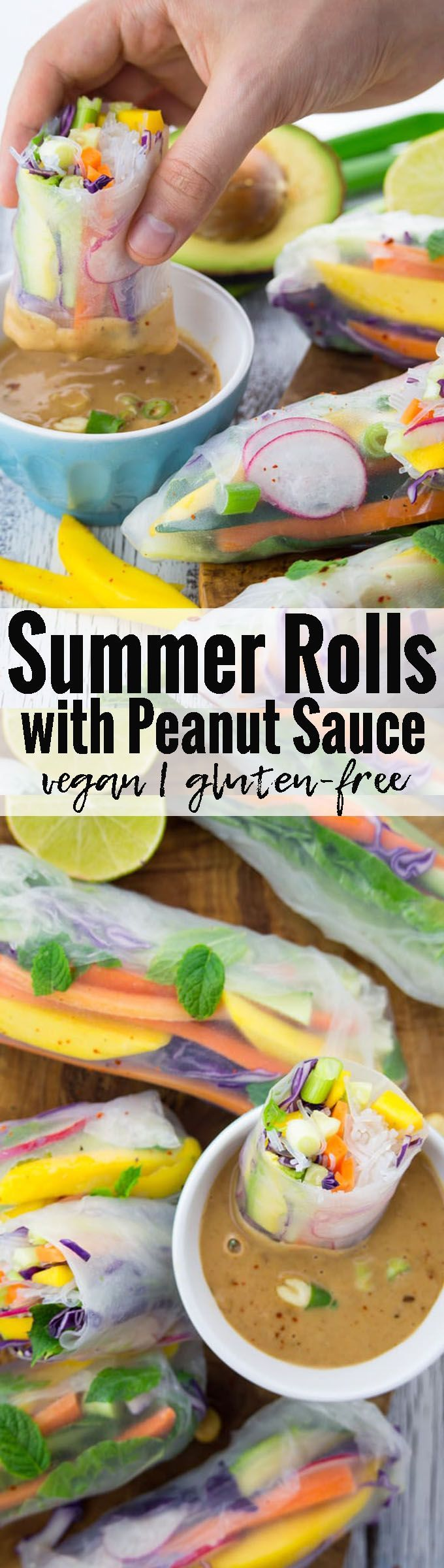These vegan summer rolls with avocado, mango, and …