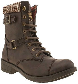Womens dark brown boots from Schuh - £70 at ClothingByColour.com