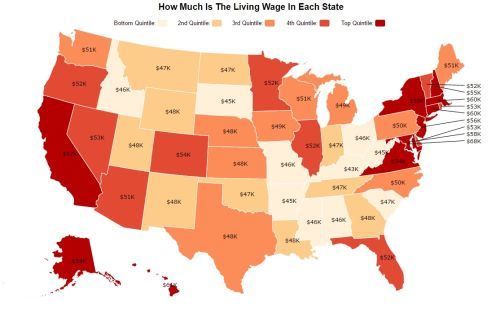 - Living wage - annual expenses to support a family by US state.