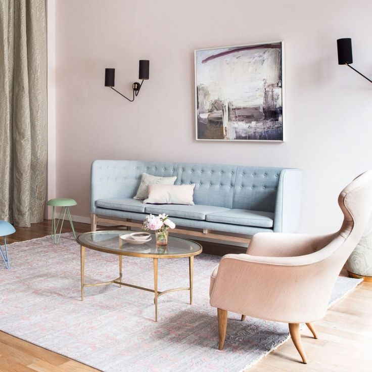 Guess what we just spotted... our Ben Lowe's Look Right piece hanging pretty in this blushed pastel living room! What a combo!
