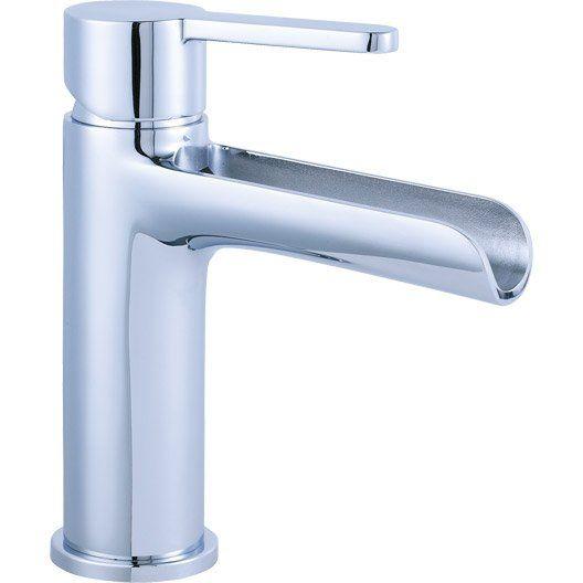 Mitigeur de lavabo bec moyen sensea kyo chrom meubles salle de bain pinterest ps - Wastafel leroy merlin ...