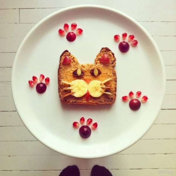 colorful healthy snacks, food art for kids