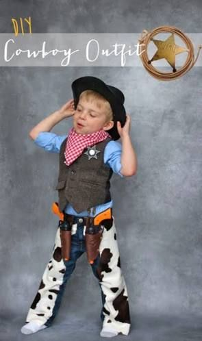 Image result for how to make a child's cowboy costume