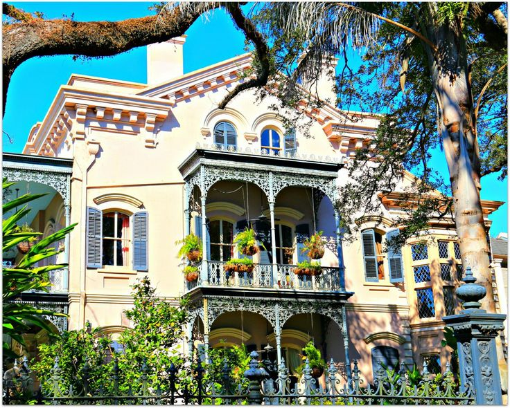 Garden District Home, Wrought Iron Balconies