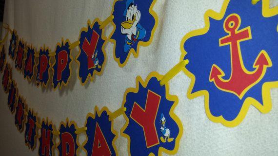 Donald Duck Happy Birthday birthday Banner Party