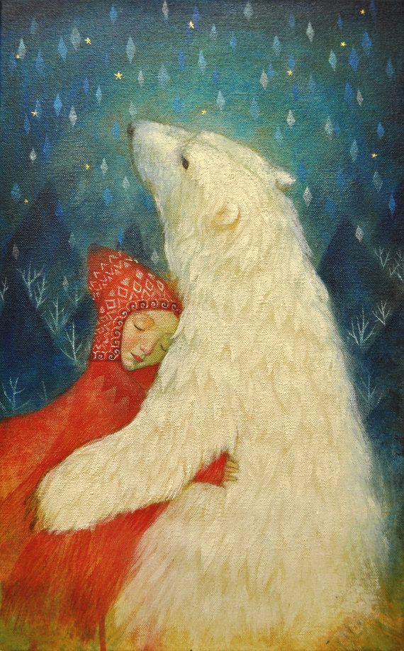 """Limited Edition Giclée-Druck von original-Gemälde von Lucy Campbell – """"magische Fell"""""""
