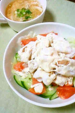 しっとりお肉の冷しゃぶサラダ  の画像