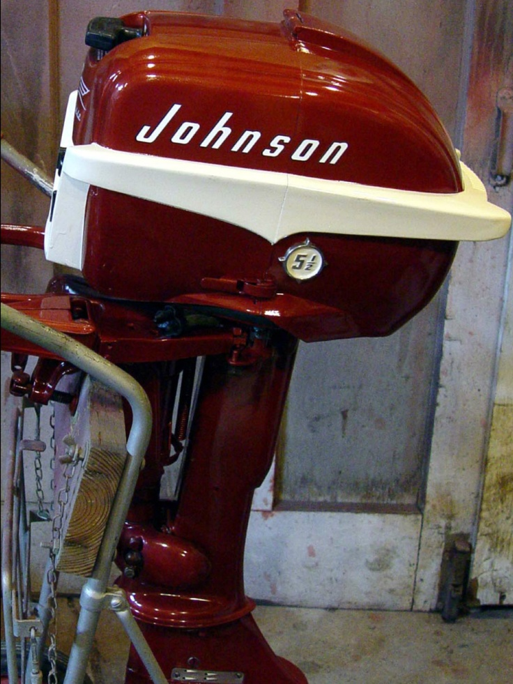 vintage johnson outboard paint something