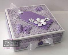 Gift Box using Crafter's Companion Gemini starter kit. Designed by Marie Jones #crafterscompanion