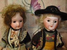 All Original French Twin Dolls-Folk Children
