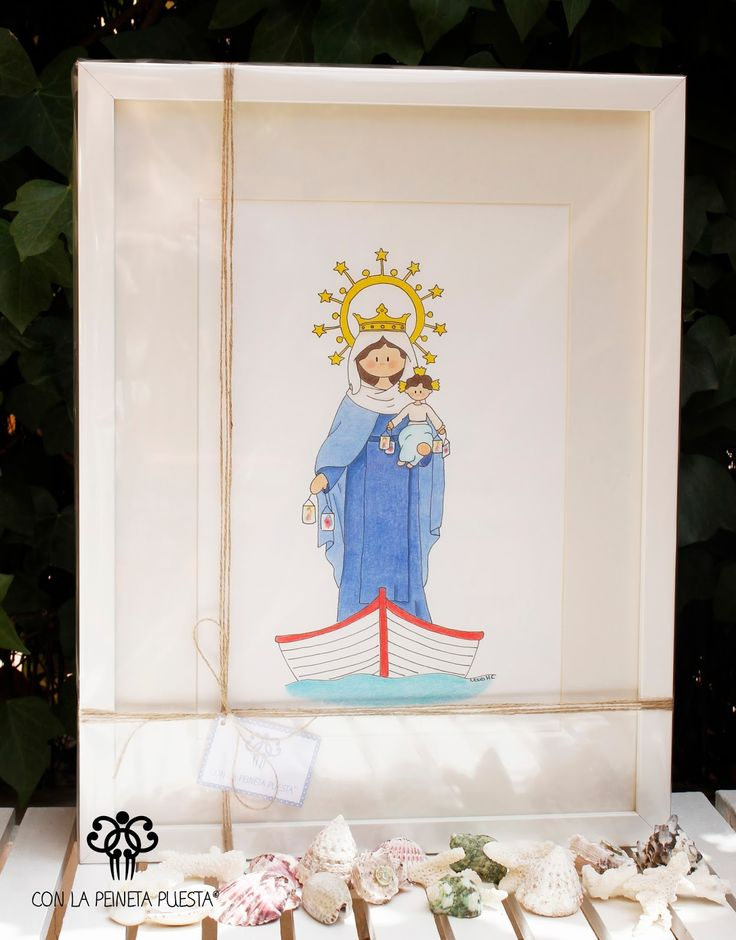Cuadro Infantil personalizado de la Virgen del Carmen! 😍