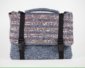 Hand Knitted and felted messenger bag.