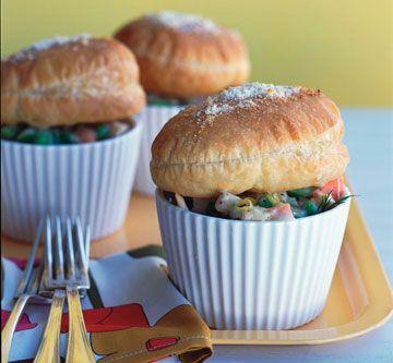 chicken pot pie - puff pastry | Recipes | Pinterest
