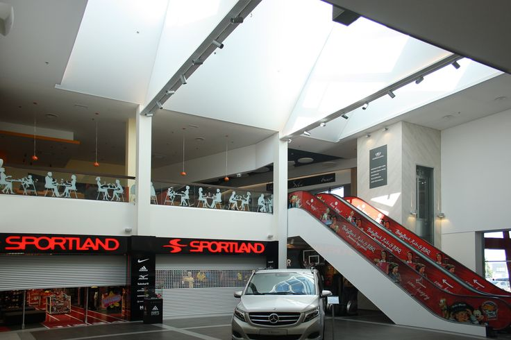 Mall ceiling and walls made with Vecta Design stretch ceilings