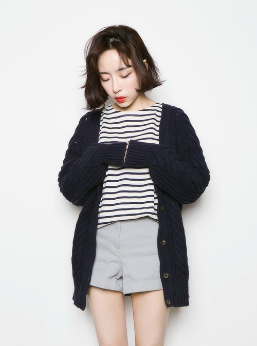 vintage bob hair asian girl