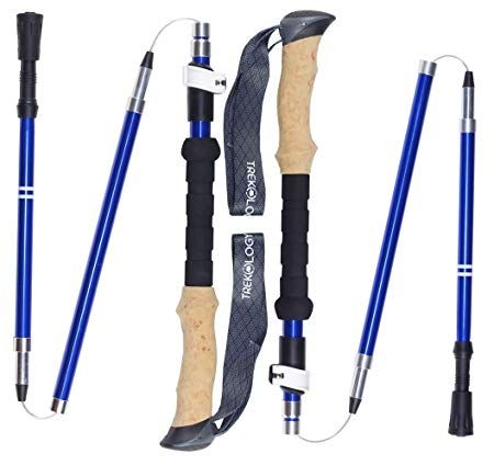 f5d596a3b07 Trekology TREK-Z Collapsible Tri-fold Trekking Pole Hiking Poles –  Adjustable Foldable Lightweight Aluminum Walking Sticks