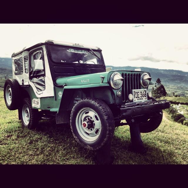 Jeep típico del eje cafetero. Filandia Quindio Colombia