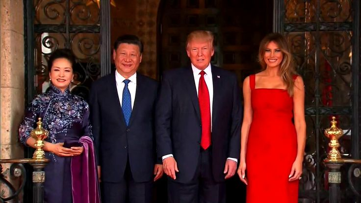 Apr 6 17 WELCOME: President Trump and Melania Welcome Chinese President Xi Jinping To Mar-A-Lago