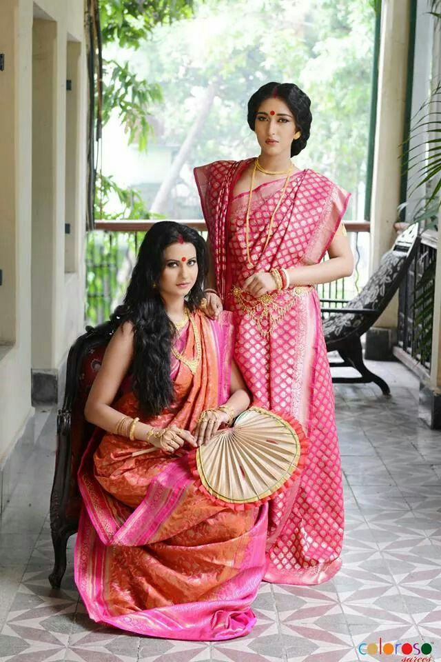 Traditional bridal Banarasi silks