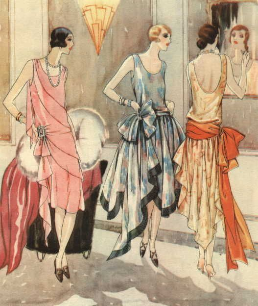 Evening dresses, 1928, Woman's Journal UK