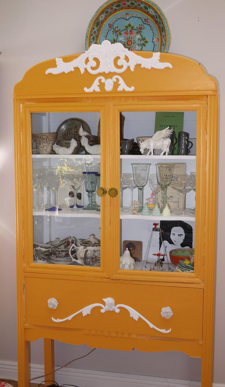 Originally brown old cabinet